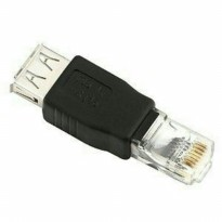 USB Female to RJ45 Ethernet Male Adapter LAN