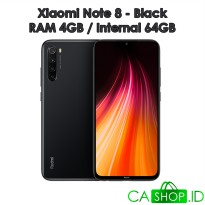 Xiaomi Redmi Note 8 4GB 64GB (4/64) - Black - Baru NEW - Resmi