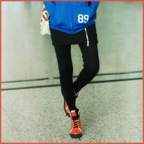 [SALE] Legging Import Black Zipper LE54787