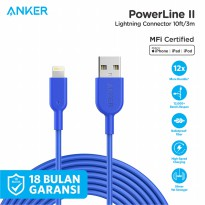 Kabel Charger Anker PowerLine II Lightning 10ft - A8434