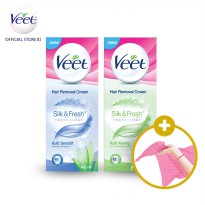 2 x 60ml Veet Hair Removal + Free Beauty Scarf