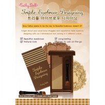 Triple Eyebrow Designing 2.5g Cathy Doll ( blonde brown & natural brown )