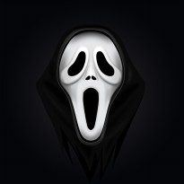 Topeng Haloween The Scream Mask