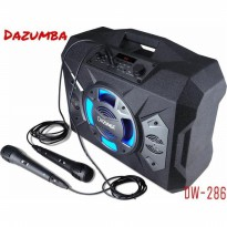 Speaker Dazumba DW286 Portable Colokan 2 MiC Ekstra Bass