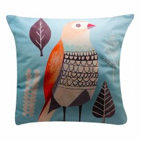 IMONO CUSHION T1267 BIRD BLUE