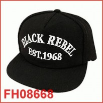 [CASH BACK] Snapback BLACK REBEL LUCKY Hitam FH08668