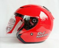 KYT DJ MARU Fire Red Metalik