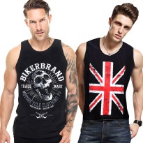 BUY 1 GET 1 [SUPERHERO KAOS TANKTOP PRIA] ★ PRINTED TANKTOP MEN ★ Sleeveless vest tops shirts