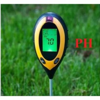 Digital Soil Analyzer Tester Meter Alat Ukur Kondisi Tanah 4 in 1 Suhu Sunlight PH Mositure SPH004