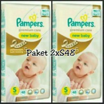 PAKET 2 PACK PAMPERS PREMIUM S48