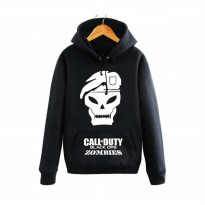 Hoodie Call Of Duty Black Ops Zombies - Hitam
