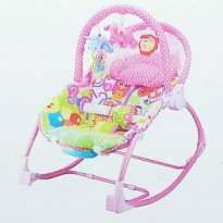 Bouncer Pliko Rocking Chair Hammock 3 Phases Lion Pink