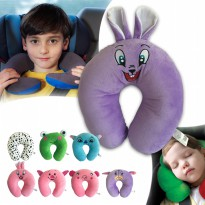 Ocean Toy Bantal Leher Karakter Animal - Rabbit Ungu