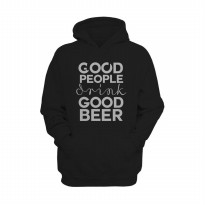 Hoodie Good People Drink Good Beer - Hitam