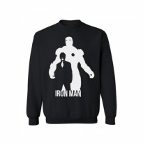 Sweater The Avengers Iron Man - Hitam
