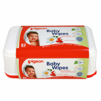 Pigeon Baby Wipes Chamomile & Rosehip Isi 82 'Sheets Box
