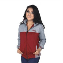 Catenzo Jacket Hoodies Couple NUx087 Grey Red