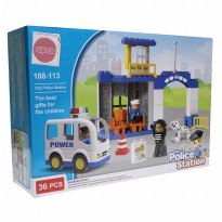 Mainan Edukasi Anak Block Duplo City police Station