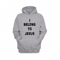 Hoodie I Belong To Jesus - Abu-abu Misty
