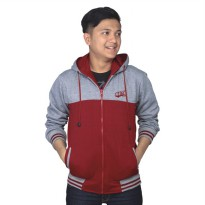Catenzo Jacket Hoodies Couple NUx088 Grey Red