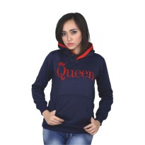 Catenzo Jacket Hoodies Couple PLx436 Navy Blue
