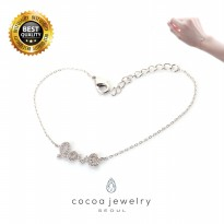 [POP UP AIA] Cocoa Jewelry The Dancing Diamonds - Gelang Silver Color (Free Stud Earring)
