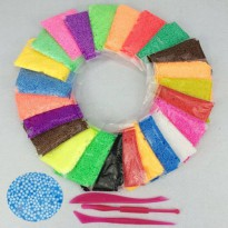 [globalbuy] 24 Colors Pearls Foam Play Doh Modeling Clay Magic Plasticine Fimo Polymer Cla/4476963