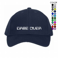 PROMO LITTLE CUSTOM TOPI BASEBALL CAPS GAME OVER TUMBLR UNISEX PRIA & WANITA 195T