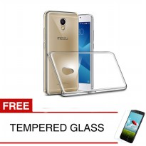 Crystal Case for Meizu M5 Note - 5.5 inch - Clear Hardcase +  Gratis Tempered Glass