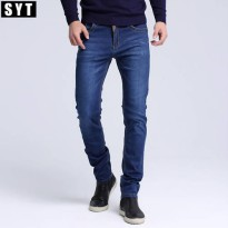 [globalbuy] 2016 SYT New Fashion Men Casual Jeans Slim Straight High Elasticity Feet Jeans/4154827