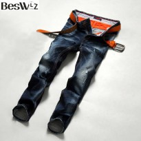 [globalbuy] 2016 Beswlz Men Denim Jeans Straight Slim Male Jeans Pants Fashion Classical C/4154796