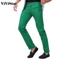 [globalbuy] Men Jeans Solid Candy Color 2015 New Spring Summer Autumn Fashion Casual Brand/4154741