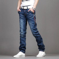[globalbuy] New Casual Mens Jeans Slim fit Men Pant Personality pockets Fashion Jeans Men /4154738