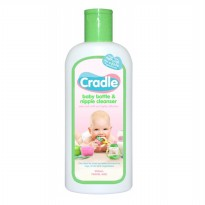 CRADLE BABY BOTTLE & NIPPLE LIQUID CLEANSER TRAVEL SIZE 200ML