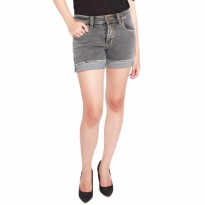 2Nd RED Jeans Hot Pants/Celana pendek Jeans wanita/Short pant ladies/Celana pendek santai-Abu 263205
