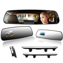 [globalbuy] New 2.4 inch mirror Car camera recorder HD rearview mirror Car DVR tachograph /4300638