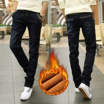 [globalbuy] man winter Plus thick velvet jeans men Plus velvet elastic stretch jeans/4154327