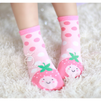 ACG129 - Kaos Kaki Bayi Motif Strawberry