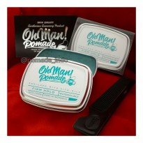 Pomade Oh Man Nutri Blue Divine Water based Pomade Free Sisir dan Sticker Exclusive