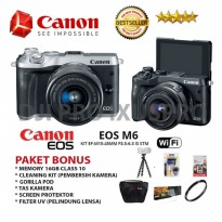 CANON EOS M6 KIT 15-45MM IS STM PAKET PROMO - MADE IN JAPAN
