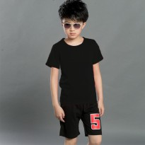 Jfashion Boy's Basic Tshirt Short Sleeve