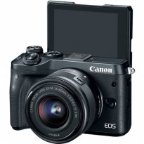 CANON EOS M6 KIT 15-45MM IS STM - KAMERA MIRRORLES MADE IN JAPAN