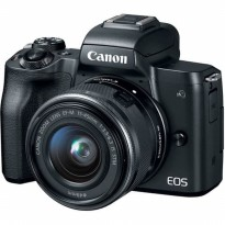 Canon EOS M50 Mirrorless Digital Camera with Lens 15-45mm - BLACK