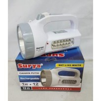 Surya senter rechargeable SHT L163 white/ senter cas