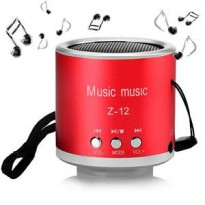 Z12 Speaker Support MicroSD Card USB Flash Disk dan FM Radio - Merah