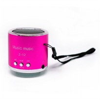 Z12 Speaker Support MicroSD Card USB Flash Disk dan FM Radio - Rose