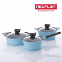 Neoflam Aeni Glass Cover Pots 3type set - mint