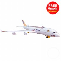 FREE ONGKIR SE - JAWA Ocean Toy Pesawat Air Bus Airlines Flash Electric Mainan Anak - LX166