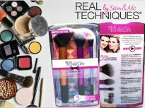 Real Techniques Multitask Set Limited Edition Make Up Brush Kuas Dandan Bulu Lebat dan Halus