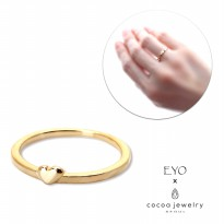 Cocoa Jewelry Cincin Wanita Korea - Beauty Girl Love Ring Gold Color - No Box